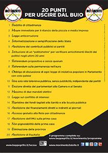 Volantino Politiche 2013 front