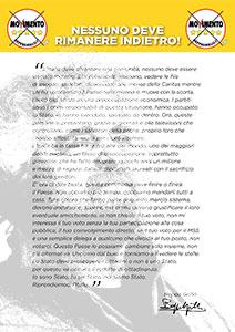 Volantino Politiche 2013 rear