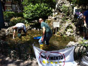 Primo blitz ecologico a piazza S. Francesco - Campobasso