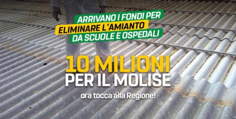 Via l'amianto da scuole e ospedali, al Molise 10 milioni di euro