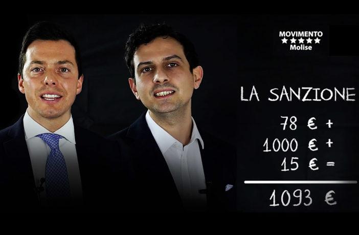 Andrea Greco e Valerio Fontana, portavoce M5S in Consiglio regionale del Molise, in un video sulle sanzioni per la mancata manutenzione delle caldaie