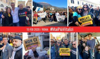 Molise 5 Stelle - Manifestazione a Roma contro il ripristino dei vitalizi