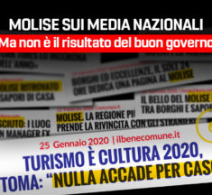 Molise sui media nazionali, ma non è il risultato del buon governo