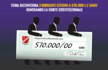 Toma riconferma 3 dirigenti che costano 570.000 euro all'anno