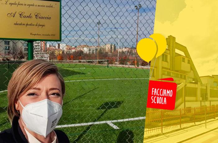 Mario Pagano Campobasso, campo sportivo, facciamo Scuola M5S Molise
