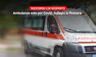 In Molise il Soccorso 118 è scoperto. Le ambulanze sono impiegate solo per pazienti Covid.