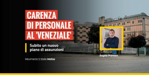 Carenza di personale al 'Veneziale', subito un nuovo piano di assunzioni