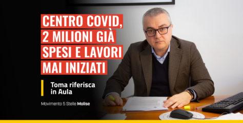 Centro Covid, spesi 2 milioni di euro ma lavori mai iniziati