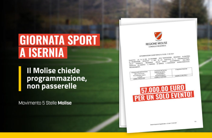 Giornata dello sport a Isernia, 57 mila euro per un solo evento!