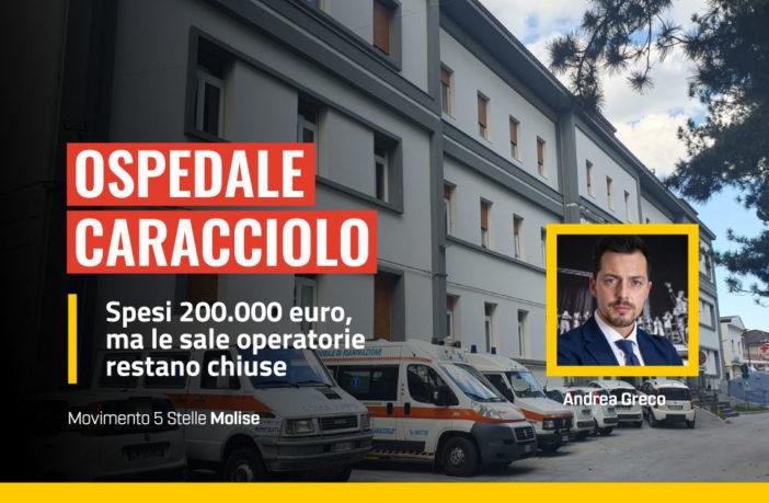 Caracciolo, 200000 euro spesi e le sale operatorie sono chiuse